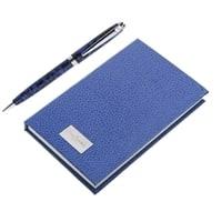 Набор Pierre Cardin: ручка шариковая + блокнот.Корпус- латунь, акрил, отделка и детали дизайна -хром