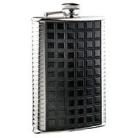 Фляга S.Quire 0,27 л , сталь+искусственная кожа, вставка черная с рисунком, D-Pro