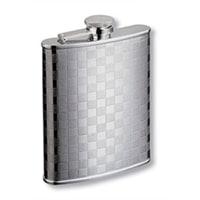 Фляга S.Quire 0,27 л, сталь, серебристый цвет с рисунком
