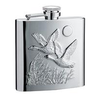 """Фляга S.Quire """"Птицы"""" 0,24 л, сталь, серебристый цвет с рисунком"""
