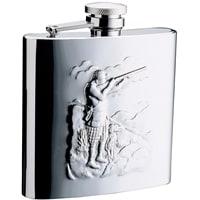 """Фляга S.Quire """"Охотники"""" 0,24 л, сталь, серебристый цвет с рисунком"""