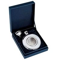 Набор S.Quire: круглая фляга 140 мл + воронка d=37 мм, сталь, картонная коробка