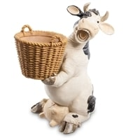 Кашпо «Корова с корзиной» GG-4702-LD (Sealmark)