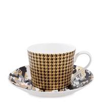 Чашка с блюдцем из костяного фарфора «Камуфляж» SL-18 (Stechcol)