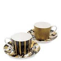 Чайный набор из костяного фарфора на 2 персоны «Камуфляж» SL-19 (Stechcol)