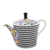 Чайник из костяного фарфора «Цветочный модерн» SL-22 (Stechcol)
