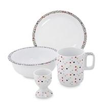 Набор посуды для завтрака из фарфора «Конфетти» (Dots Good) TC-12