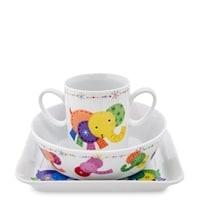 Набор посуды из фарфора «Радужный слоненок» (Elephant baby) TC-14