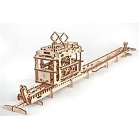 Трамвай с рельсами. Конструктор 3D-пазл Ugears