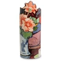 Ваза «Pink Roses, Chinese Vase» Сэмюэл Джон Пепло (Silhouette d'art Parastone)