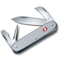 Нож перочинный VICTORINOX Pioneer, 93 мм, 6 функций, алюминиевая рукоять, серебристый