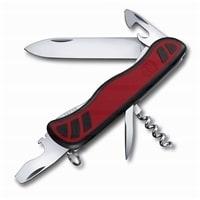 Нож перочинный VICTORINOX Nomad, 111 мм, 9 функций, с фиксатором лезвия, красный с чёрными вставками