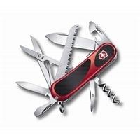Нож перочинный VICTORINOX Evolution S17, 85 мм, 15 функций, с фиксатором лезвия, красный с чёрным