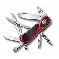 Нож перочинный VICTORINOX Evolution S14, 85 мм, 14 функций, красный с чёрными вставками