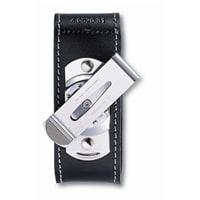 Чехол на ремень VICTORINOX для ножей 91мм толщиной 2-4 уровня, с поворотной клипсой, кожаный, чёрный