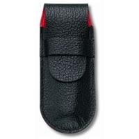 Чехол VICTORINOX для ножей 91 мм толщиной до 2 уровней, кожаный, чёрный