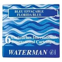 Синие чернильные картриджи WATERMAN Интернешнл. 6шт/уп