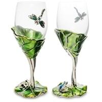 Набор бокалов в подарочной коробке «Лотус с лягушкой» WIN-157