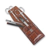 Маникюрный набор Yes 5 инструментов (коричневый)