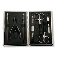 Маникюрный набор Yes 7 инструментов (черный)