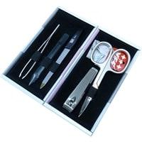 Маникюрный набор Yes 5 инструментов (белый/розово-серый)