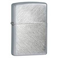 Зажигалка ZIPPO с покрытием Herringbone Sweep серебристая, матовая