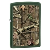 Зажигалка ZIPPO Старый лес, латунь с покрытием Green Matte, зеленая, матовая