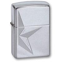 Зажигалка ZIPPO Half Star High Polish Chrome, латунь с ник.-хром. покрыт.,серебр.,глянц.