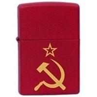 Зажигалка ZIPPO Серп и Молот с покрытием Red Matte красная, матовая