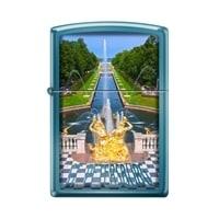Зажигалка ZIPPO Петергофский фонтан с покрытием Sapphire™ синяя, глянцевая