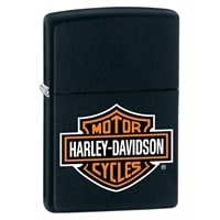 Зажигалка ZIPPO Harley-Davidson® с покрытием Black Matte чёрная