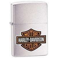 Зажигалка ZIPPO Harley-Davidson® с покрытием Brushed Chrome серебристая