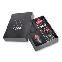 Подарочная коробка Zippo (кремни + топливо, 125 мл + место для широкой зажигалки)