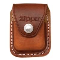 Чехол Zippo для зажигалки, кожа, с металлическим фиксатором на ремень, коричневый