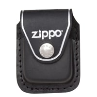 Чехол Zippo для зажигалки из натуральной кожи с клипом, черный