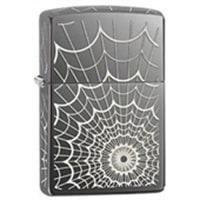 Зажигалка ZIPPO Web с покрытием Black Ice® серая с гравировкой, глянцевая